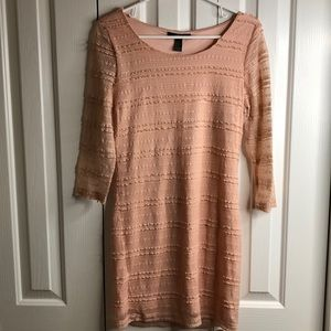 2/$12 Forever 21 size M pretty pink lacy dress EUC